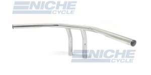 "T-Bar Handlebars 24""x6"" Chrome Dimpled 07-93421"