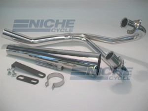 Kawasaki GPZ 305 83-85 MAC 2-Into-1 Chrome Megaphone Exhaust System 002-1203