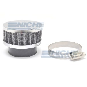 45mm Chrome End Cap Air Filter 12-50345