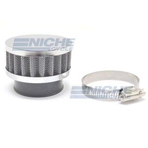 38mm Chrome End Cap Air Filter 12-50338