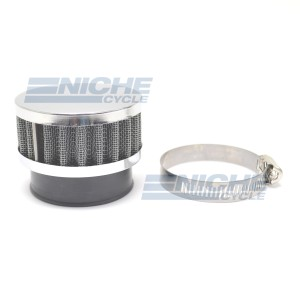 48mm Chrome End Cap Air Filter 12-50348