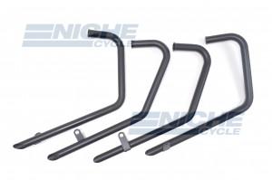 Honda CB750K 77-78 Drag Pipes TT Black Slash Cut Exhaust System 201-1506