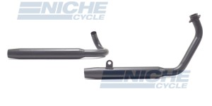 Yamaha Virago XV 750/920 Ceramic Coated 2-Into-2 Black Taper Exhaust System 904-0521