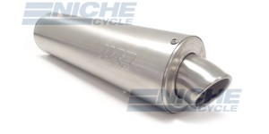 """19"""" SuperTrapp Motorcycle Muffler Exhaust Tunable Canister Brushed 1.75"""" 425-17190"""