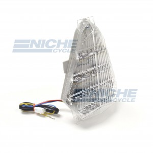 Yamaha YZF-R6 Clear LED Taillight Brake Light w/Integrated Turn Signals 62-39360LT