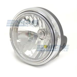 "7"" Headlight Assembly - Black/Chrome 66-64199"