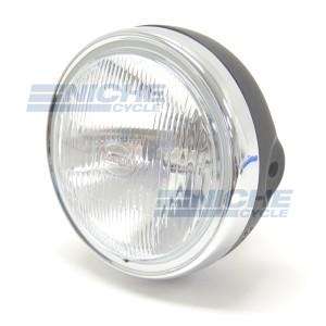 "6.25"" Headlight Assembly - Matte Black/Chrome 66-64313MC"