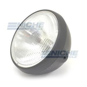 """7"""" Headlight w/Sealed Beam Matte Blk 66-64360D"""
