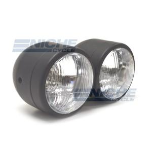 "Dual Beam 3.5"" Headlights - Black 66-64431"