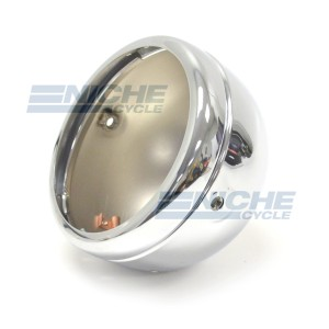 "Lucas-Style 5-3/4"" Headlight Shell Kit - Chrome 66-65073"