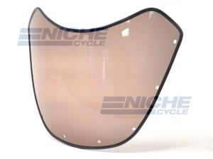"7"" Headlight Replacement Race Fairing Windshield Tinted Gloss Black  70-52506"