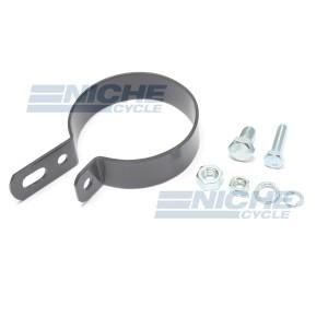 "Black 2.5"" Muffler Center Clamp with Integrated Hanger Mount 80-62345B"