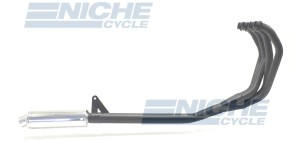 Suzuki GSX1100 86-88 Race 4-Into-1 Black/Chrome Canister Exhaust System AC3-1001