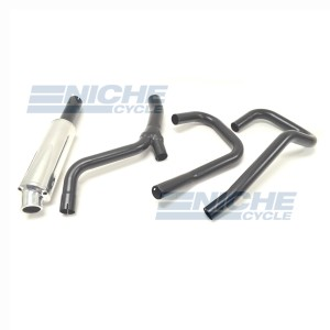BMW R Model MAC Competition Race 2-Into-1 Black Canister Exhaust System AC6-0903