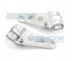 Headlight Brackets - Universal Chrome 66-35800