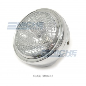"Headlight Grill Cover 7"" Chrome HG7C"