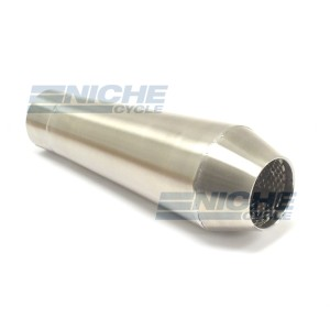 "Reverse Cone 12"" - Stainless Steel 2.5"" Inlet ID - Brushed NCS-2500-12-SS"