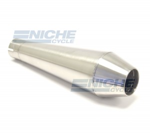 "Reverse Cone 12"" - Stainless Steel 1.75"" Inlet ID - Brushed NCS-1750-12-SS"