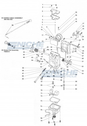 HSR42/Mikuni TM42 Exploded View - Replacement Parts Listing HSR42-TM42_parts_list