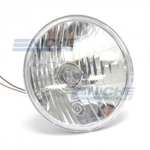 """7"""" Headlight Light Unit - Crystal Clear 60w/55w H4 w/ Pilot Light ECE J703F-H-E"""