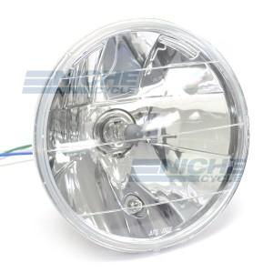 """7"""" Headlight Light Unit - Crystal Clear 60w/55w H4 w/ Pilot Light DOT J703F-S"""