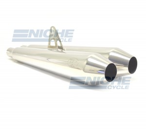 Mag Wheel Bonne 304SS Polished Muffler MC-TP-MWS
