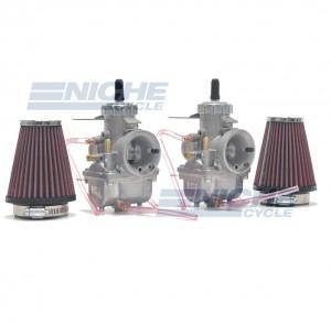Honda CB350/CL350/CB360 Mikuni VM32 32mm Race Carburetor Kit NCS248