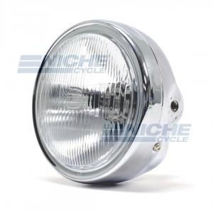 """Replica Honda Headlight 6-1/4"""" Chrome 66-64312"""