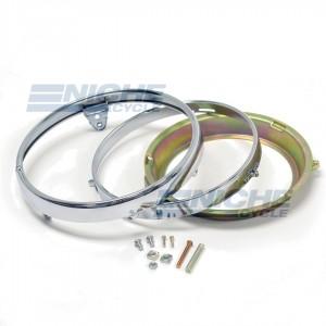 """7"""" Honda Headlight Rim & Retainer Kit 66-64330"""