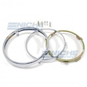 "7"" Honda CB CBX GL Headlight Rim & Retainer Kit 66-64334"