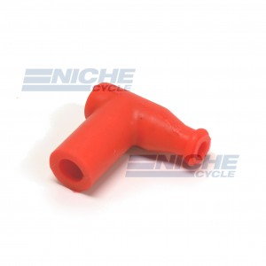 Silicon 90 Degree Spark Plug Cap - Red 28-47842