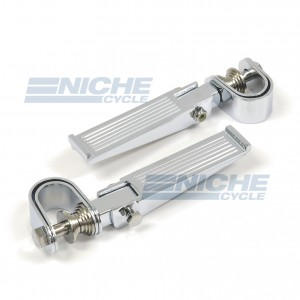 Ribbed Chrome Folding Highway Bar Footpegs  50-26601