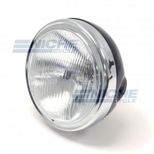 "Replica Honda Headlight 6-1/4"" Black 66-64313"