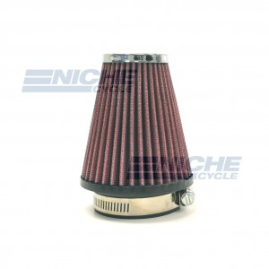 "Universal Motorcycle High Performance Tapered Air Filter 2-1/4"""" Inlet RC-1250-01"