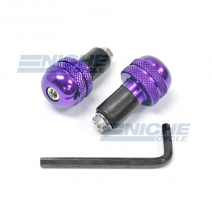 Bar End Alum - Knurled Purple 23-96466