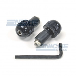 Bar Ends Alum -  Knurled Black 23-96461