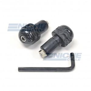 Bar Ends Alum -  Knurled Carbon 23-96468