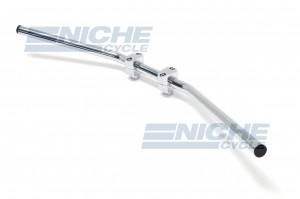"Handlebar - 1"" Drag Bar Wide Chrome-Dimp 07-92435"
