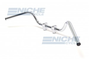 "Handlebar - 1"" Low Buckhorn Chrome 07-12510"