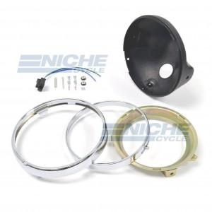 "Headlight Shell 7"" Universal - Black 66-65010"