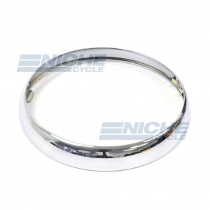 """Headlight Rim 7"""" British Style- Chrome 553248/E"""