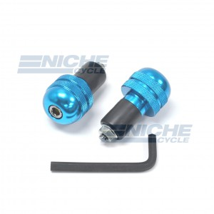 Bar Ends Alum -  Knurled Blue 23-96463