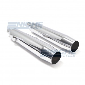 Kawasaki KZ454 LTD Performance Exhaust Motorcycle Mufflers Taper Chrome  002-1621