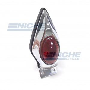 Teardrop Fender Mount Taillight Chrome 62-21670