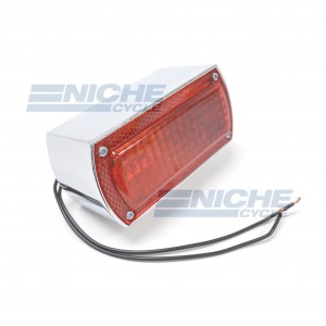 Old School Box Taillight - Chrome 62-30340