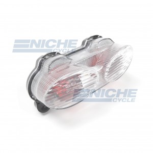 Kawasaki ZX6R ZX9R ZR7 Clear Taillight Lens Assembly 62-84751