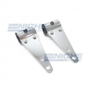Headlight Bracket Set Chrome 30-38mm Forks 66-35840