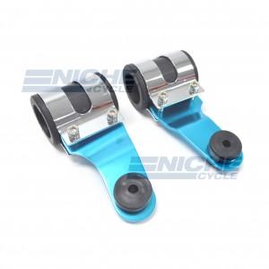 Blue Aluminum Headlight Brackets - Heavy Duty 66-35853