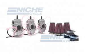 Kawasaki H2 72-75 Mikuni Flat Slide TM32 32mm Carburetor Kit NCS239