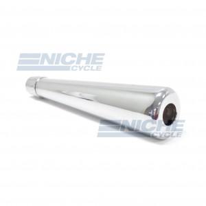 MUFFLER - RoadHawk 50's Oval Chrome 80-84031
